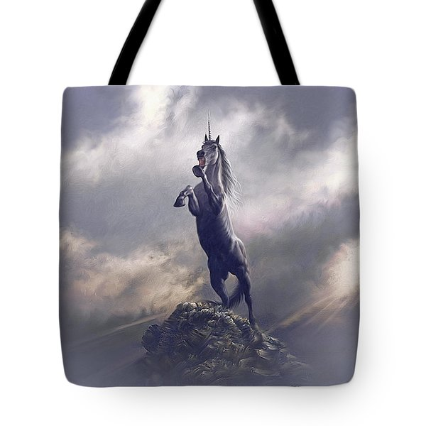 Tote Bag featuring the digital art Majestic Dignity  by Uwe Jarling