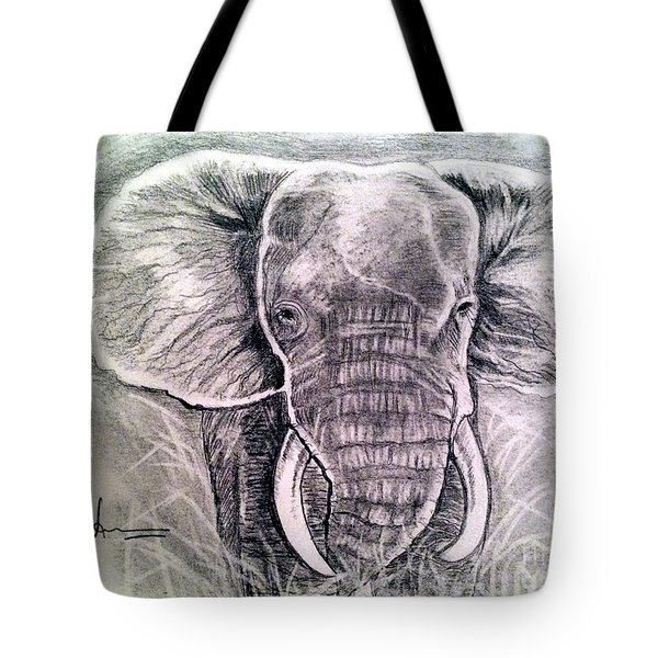 Majestic Elephant Tote Bag by Brindha Naveen