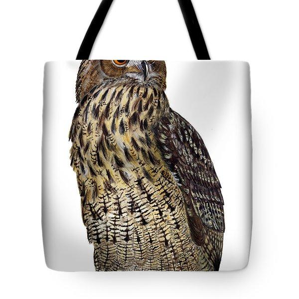 Majestic Eurasian Northern Eagle Owl Bubo Bubo - Hibou Grand-duc - Buho Real - Nationalpark Eifel Tote Bag