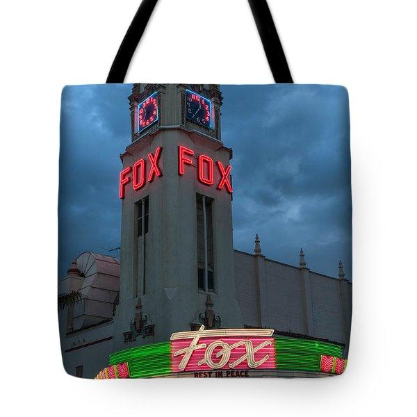 Majestic Fox Theater Neon Tribute Merle Haggard Tote Bag