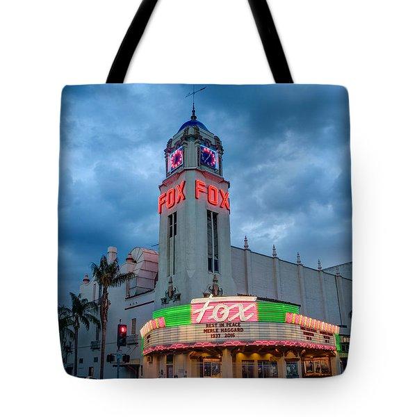Majestic Fox Theater Tribute Merle Haggard Tote Bag