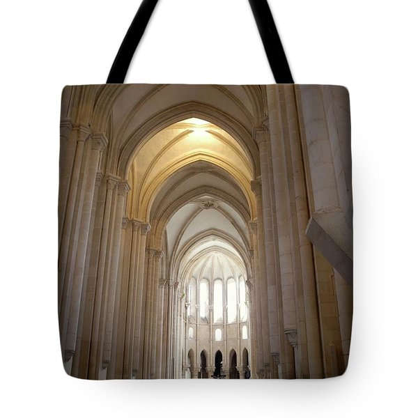 Tote Bag featuring the photograph Majestic Gothic Cathedral In Portugal by Kirsten Giving