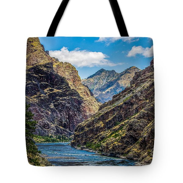 Majestic Hells Canyon Idaho Landscape By Kaylyn Franks Tote Bag