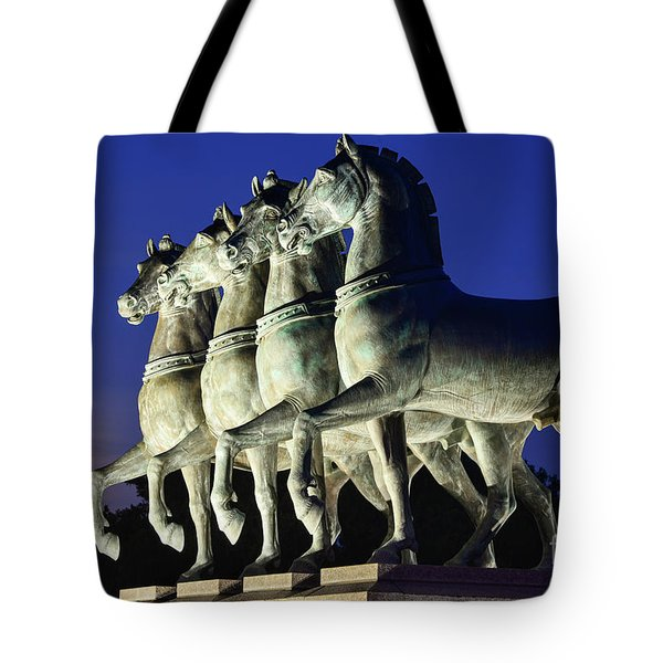 Majestic Horses In The Light Of The Moon Tote Bag
