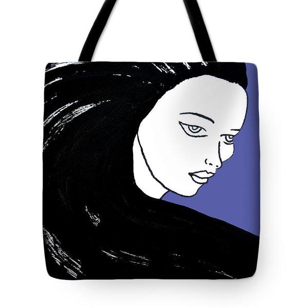 Majestic Lady J0715f J0715f Marina Blue Pastel Painting 17-4041 4f84c4 585fa8 Tote Bag