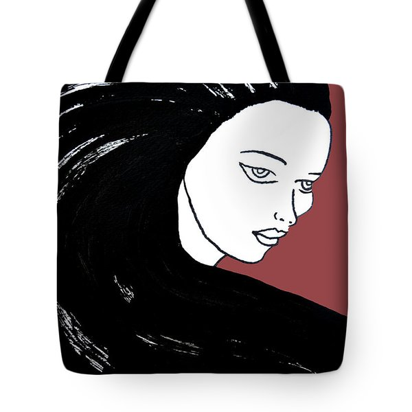 Majestic Lady J0715g Marsala Red Pastel Painting 18-1438 964648 964f4c Tote Bag
