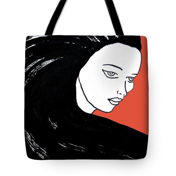 Majestic Lady J0715j Tangerine Tango Orange Pastel Painting 17-1463  E1523d F0532a Tote Bag