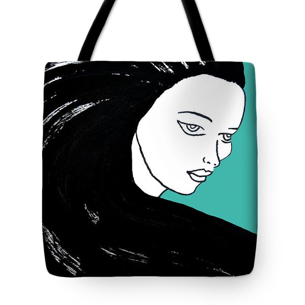 Majestic Lady J0715k Turquoise Green Pastel Painting 15-5519 41b6ab Tote Bag
