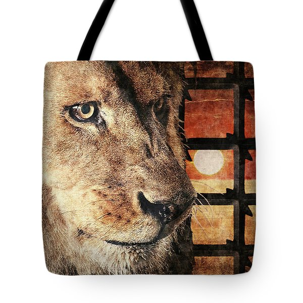 Majestic Lion In Captivity Tote Bag