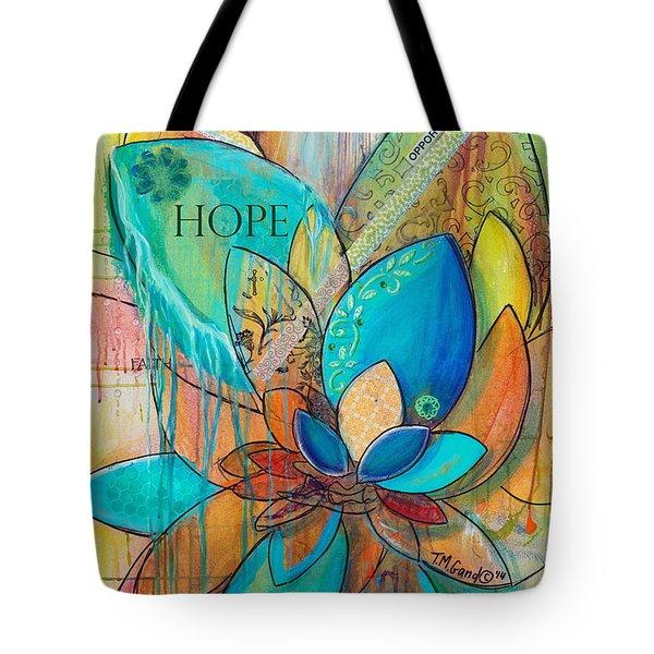 Spirit Lotus With Hope Tote Bag