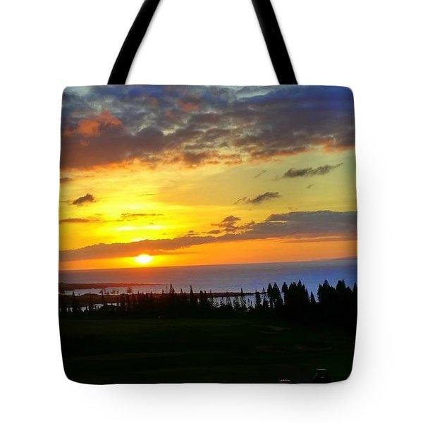 Majestic Maui Sunset Tote Bag