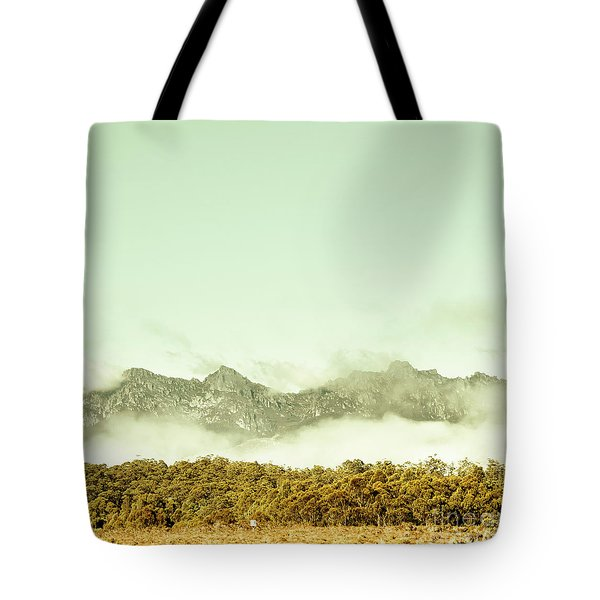 Majestic Misty Mountains Tote Bag