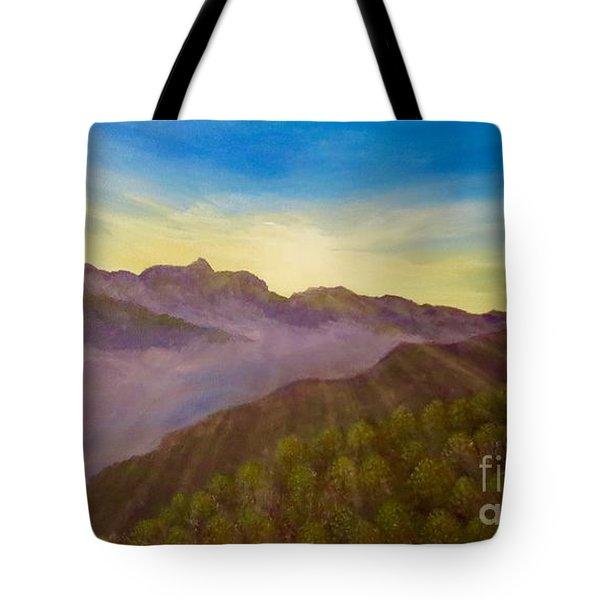 Majestic Morning Sunrise Tote Bag