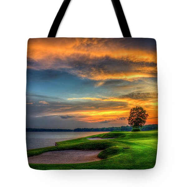 Tote Bag featuring the photograph Majestic Number 4 The Landing Reynolds Plantation Art by Reid Callaway
