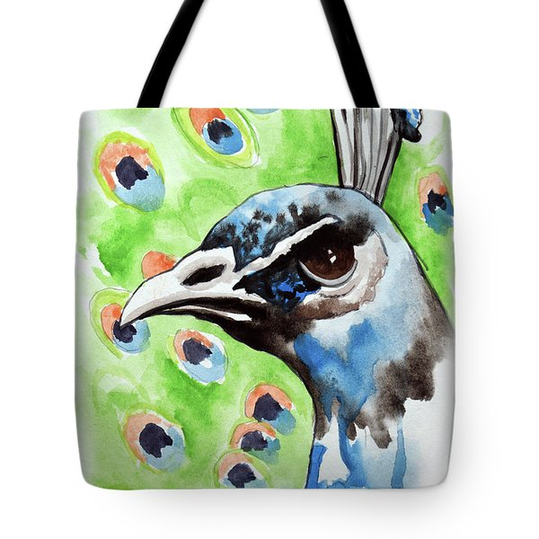 Majestic - Peacock Bird Art Tote Bag