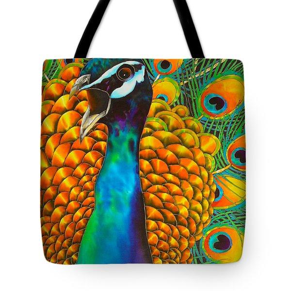 Majestic Peacock Tote Bag