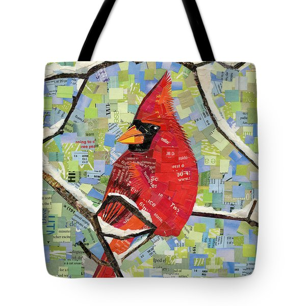 Majestic Red Cardinal  Tote Bag by Shawna Rowe