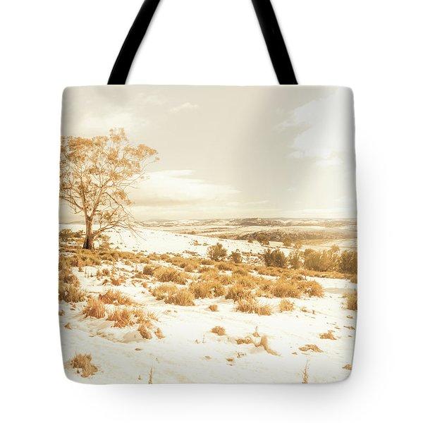 Majestic Scenes From Snowy Tasmania Tote Bag