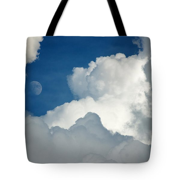 Majestic Storm Clouds With Moon Tote Bag