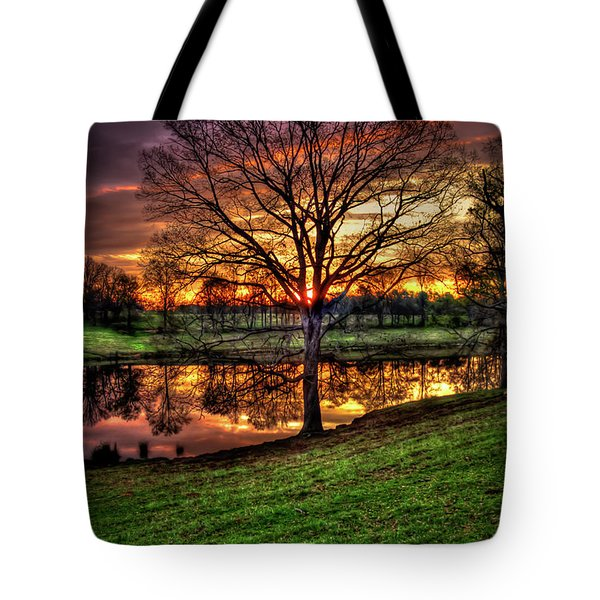 Majestic Sunrise Reflections Art Tote Bag