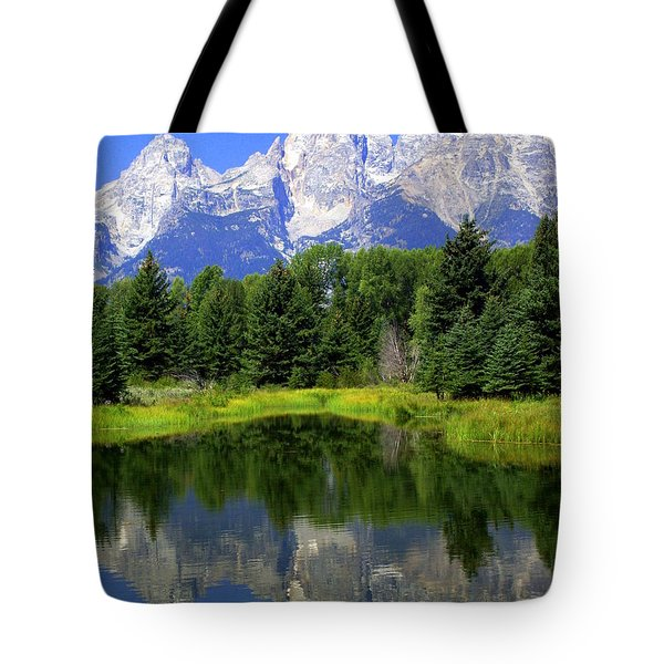 Majestic Tetons Tote Bag by Marty Koch