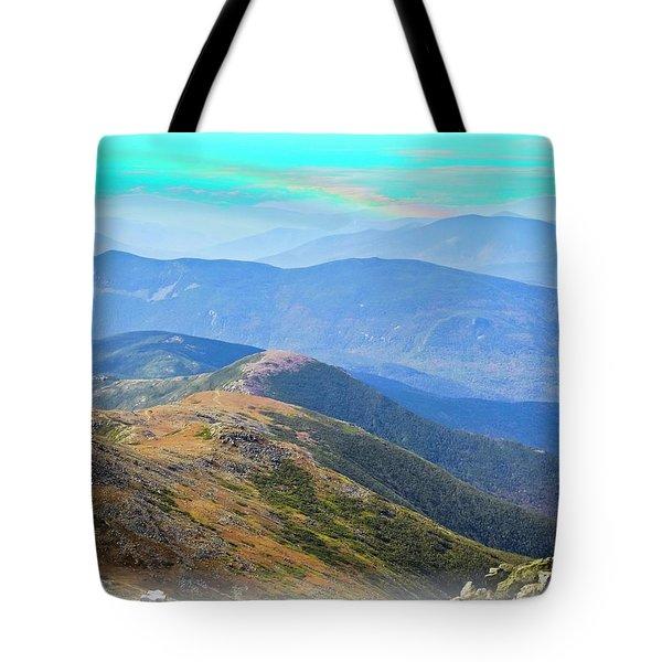 Majestic White Mountains Tote Bag
