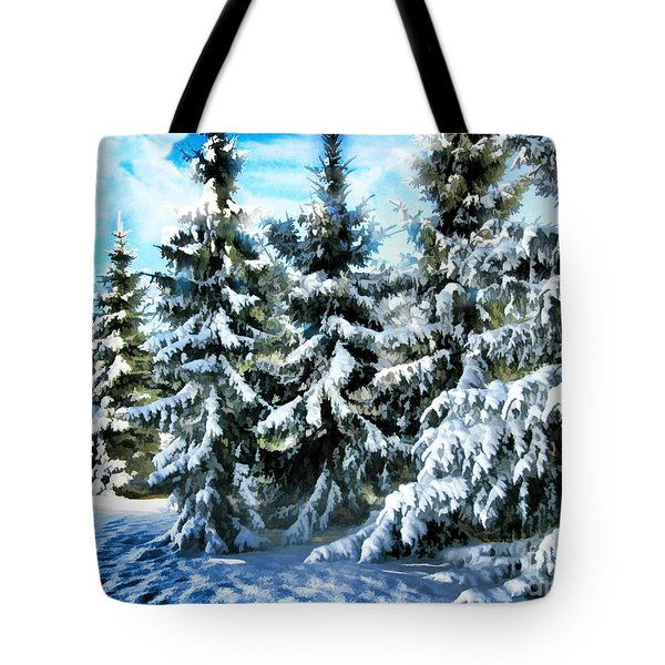 Majestic Winter In New England  Tote Bag by Judy Palkimas
