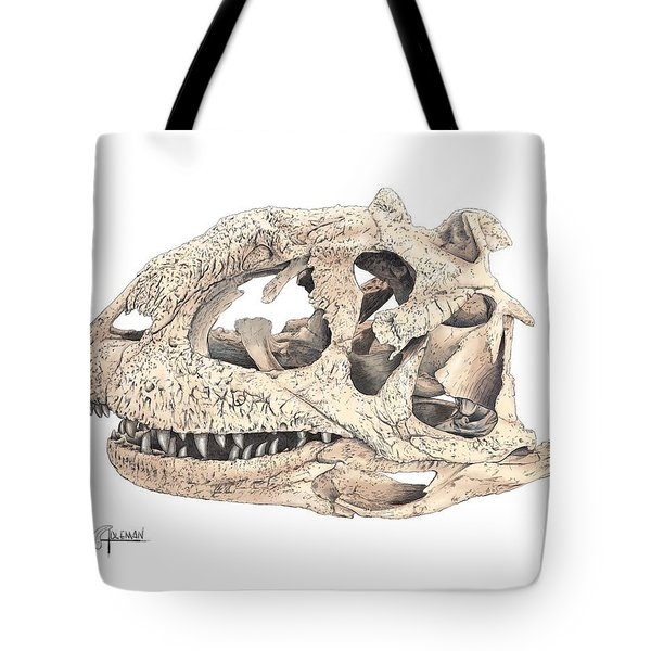 Majungasaur Skull Tote Bag