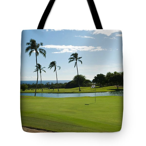 Makaha Golf Course Tote Bag by Bill Bachmann - Printscapes