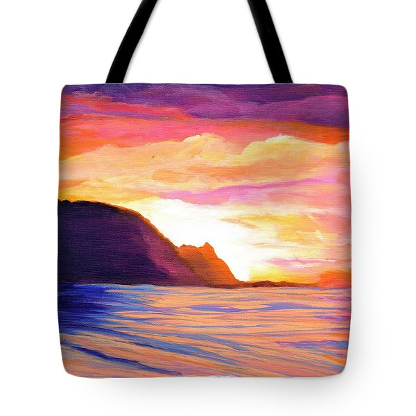 Makana Sunset Tote Bag by Marionette Taboniar