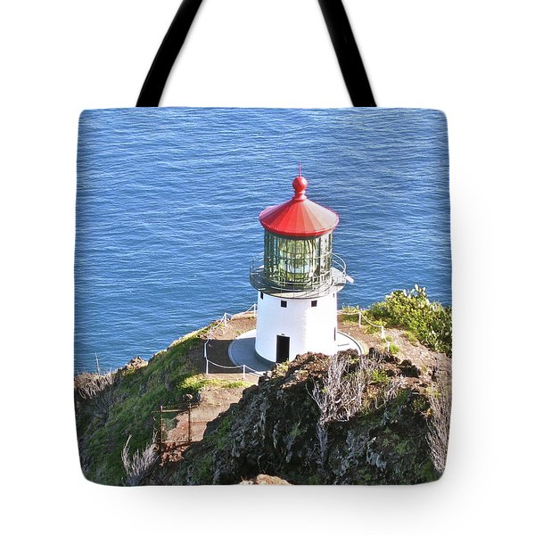 Makapuu Lighthouse 1065 Tote Bag by Michael Peychich