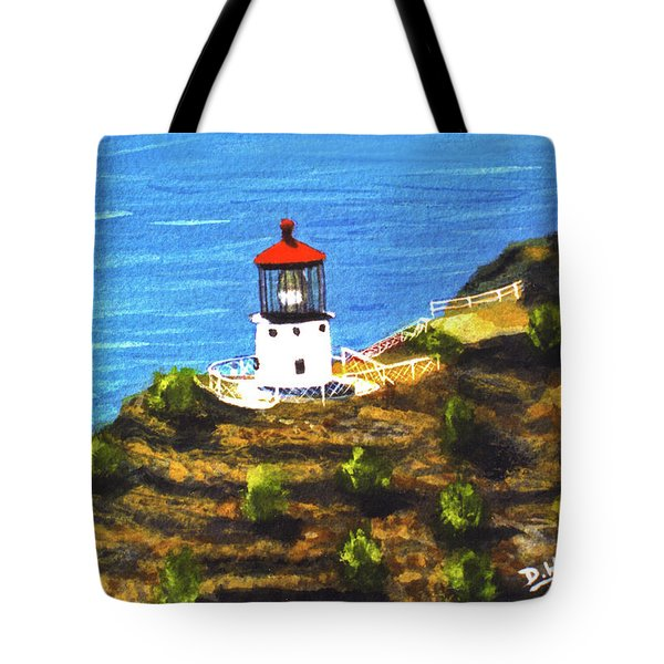 Makapuu Lighthouse #78, Tote Bag by Donald k Hall