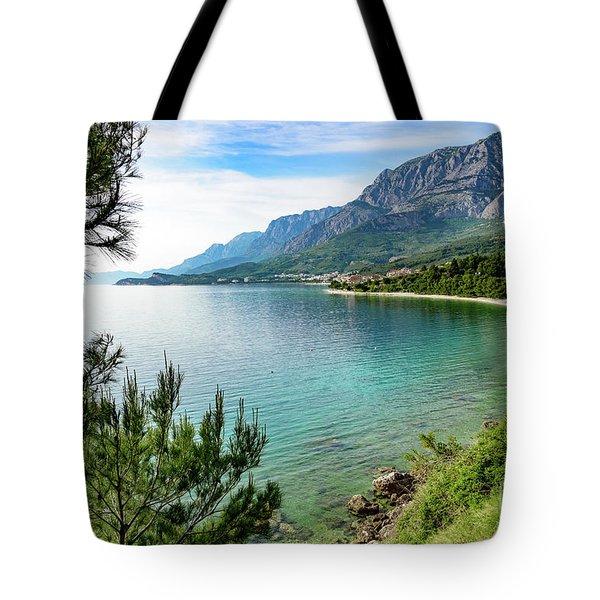 Makarska Riviera White Stone Beach, Dalmatian Coast, Croatia Tote Bag