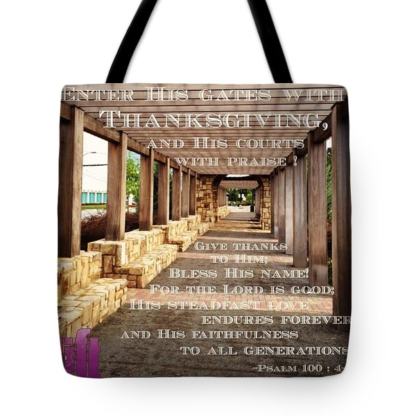 Make A Joyful Noise To The Lord, All Tote Bag