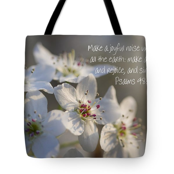 Make A Joyful Noise Unto The Lord Tote Bag