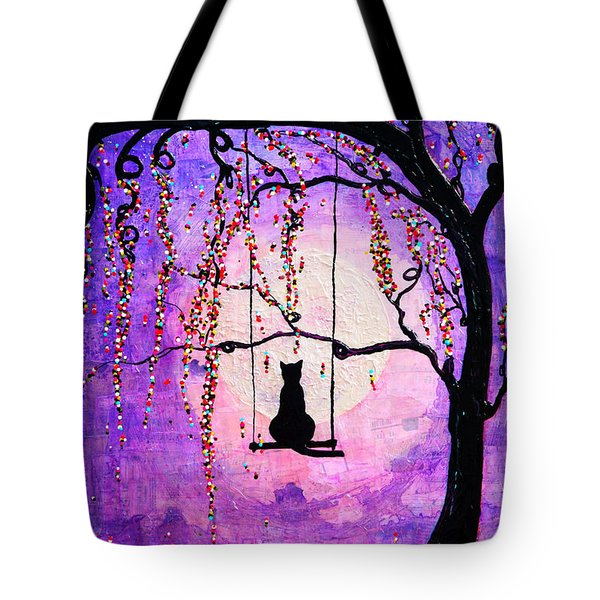 Tote Bag featuring the mixed media Make A Wish by Natalie Briney