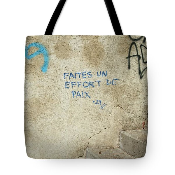 Make An Effort For Peace Tote Bag by Colleen Williams