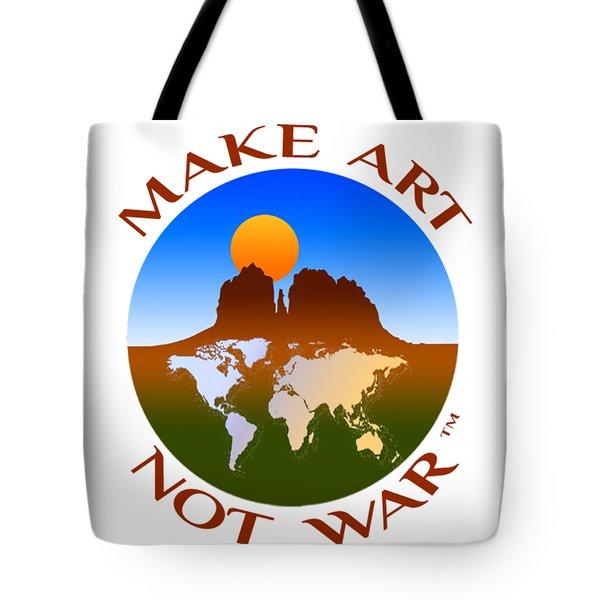 Make Art Not War Logo Tote Bag