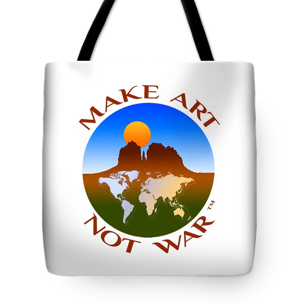 Make Art Not War Logo Tote Bag