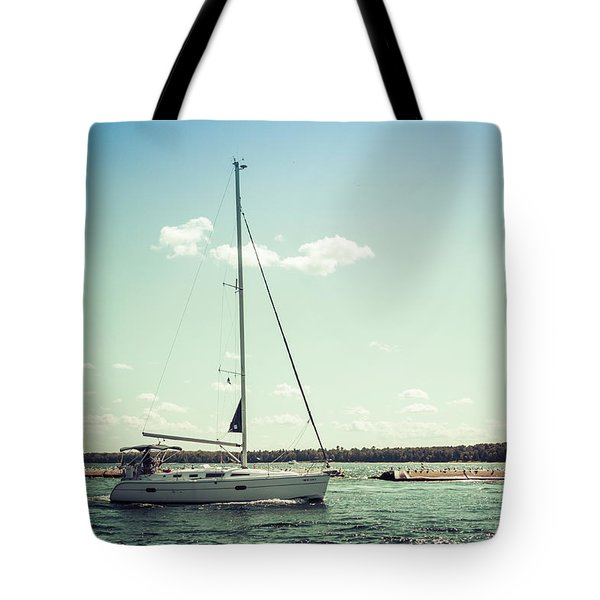Tote Bag featuring the photograph Make Headway by Joel Witmeyer