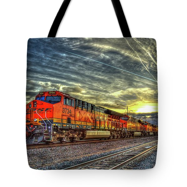Make Way Resting B N S F Train Gallup New Mexico Art Tote Bag