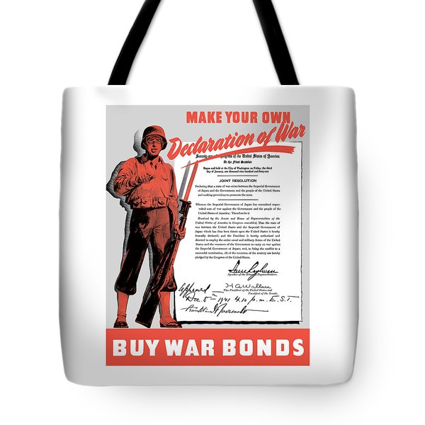 Tote Bag featuring the painting Make Your Own Declaration Of War by War Is Hell Store