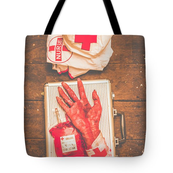 Make Your Own Frankenstein Medical Kit  Tote Bag
