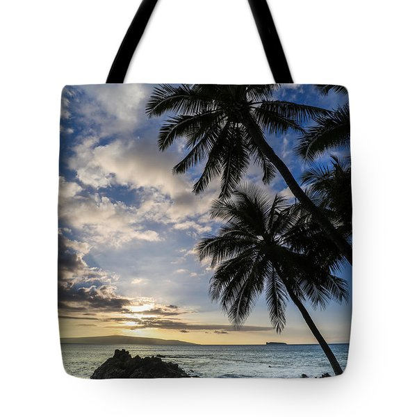 Makena Maui Hawaii Sunset Tote Bag
