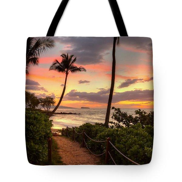 Makena Sunset Path Tote Bag