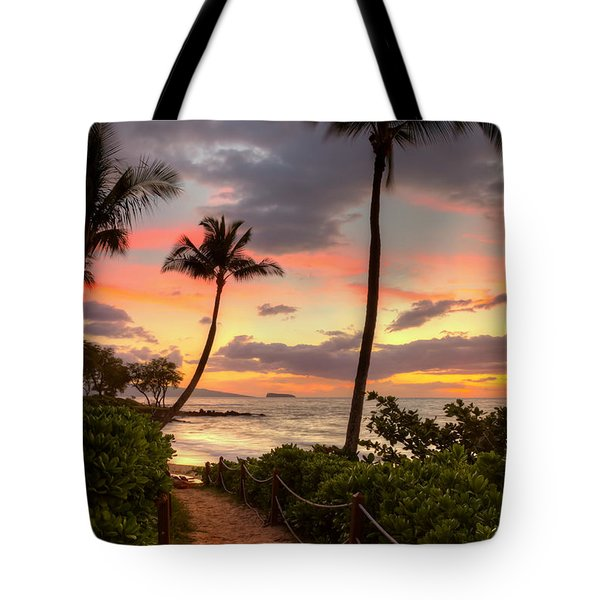 Makena Sunset Path Tote Bag