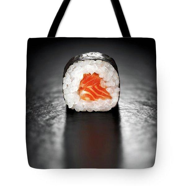 Maki Sushi Roll With Salmon Tote Bag