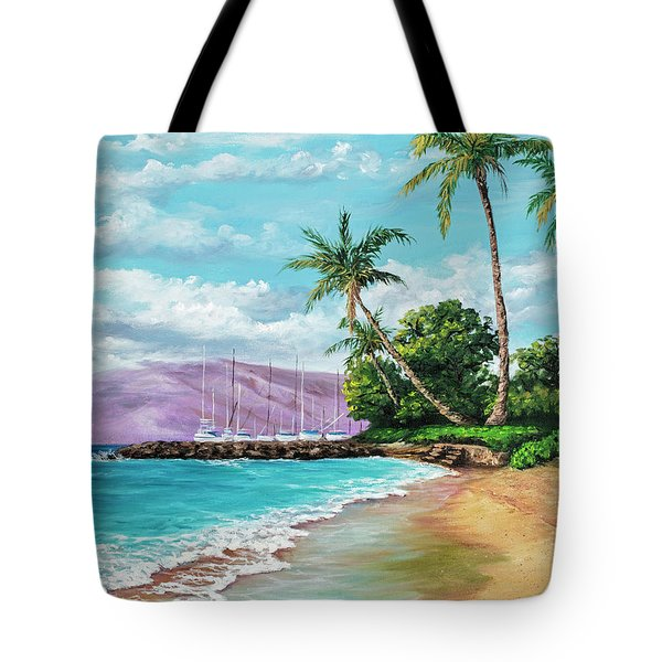 Tote Bag featuring the painting Makila Beach by Darice Machel McGuire