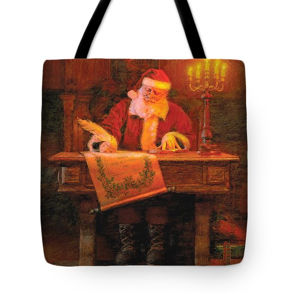 Making A List Tote Bag