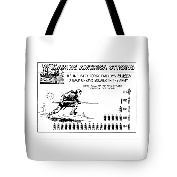 Making America Strong Cartoon Tote Bag